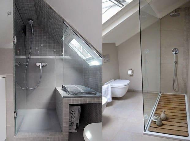 Soluzioni doccia per il bagno mansardato arredamento
