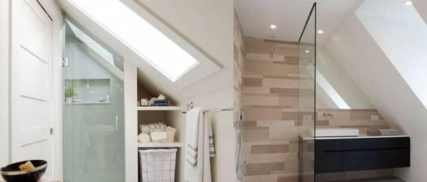 Soluzioni doccia per il bagno mansardato blog arredamento for Mobili bagno a basso costo